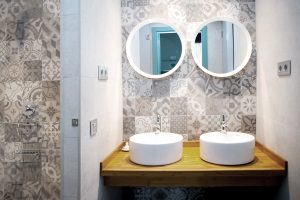 Bathroom in 6 bed mixed dormitory