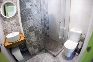Bathroom in 4 bed female dormitory