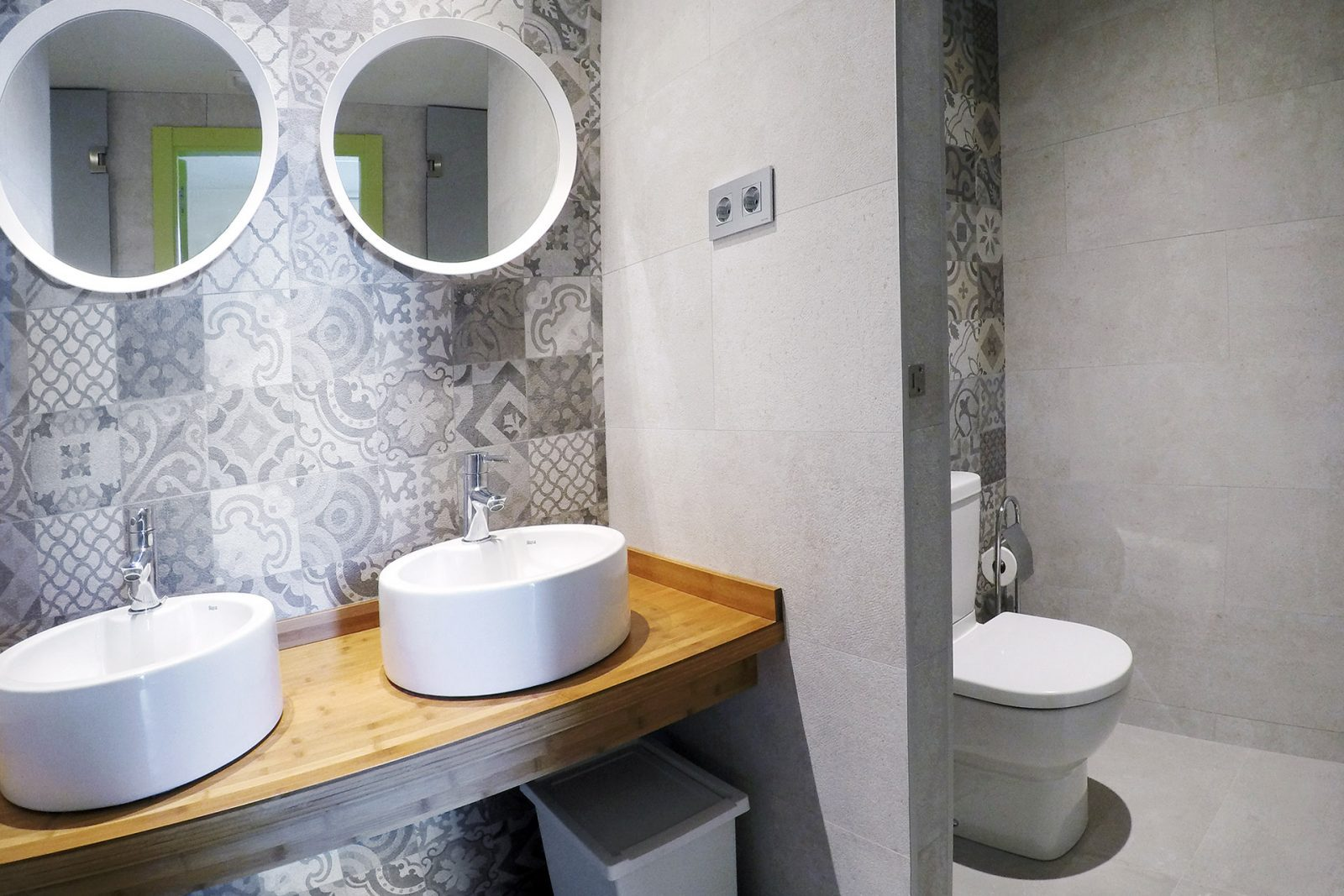 Bathroom in 6 bed female dormitory